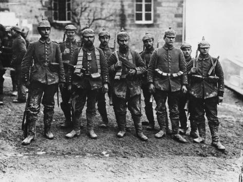 German Crack Soldiers on the Western Front During World War I Photographic Print