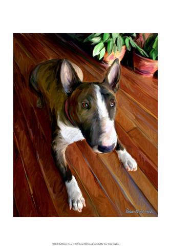 Bull Terrier Down Framed Art Print