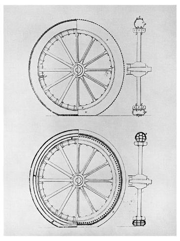 The First Pneumatic Tyre, 1845 Giclee Print