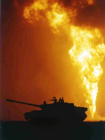Kuwait Burning Oil Well Photographic Print