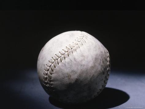 Light Shining on a Baseball Photographic Print
