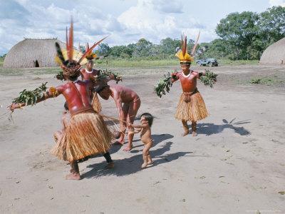 Xingu Dance, Brazil, South America Photographic Print by