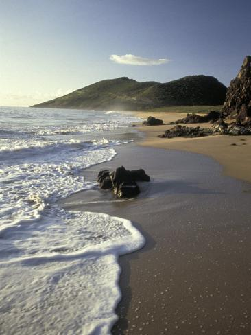 Atlantic Beach of St. Kitts, Caribbean Photographic Print