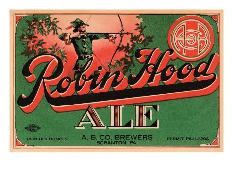 Robin Hood Ale Art Print