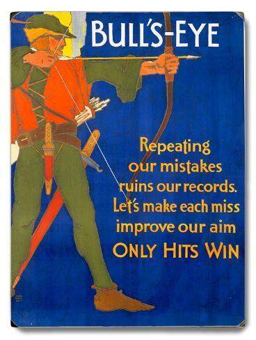 Robin Hood Archer Motivational Poster Wood Sign