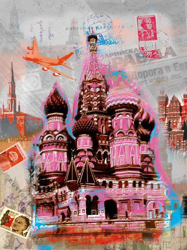 Moscow Vintage Art Print