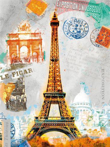 Paris Vintage Impressão artística