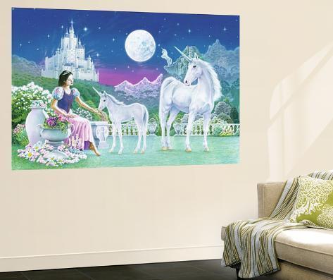 Robin Koni Unicorn Princess Mini Mural Huge Poster Art Print Wallpaper Mural