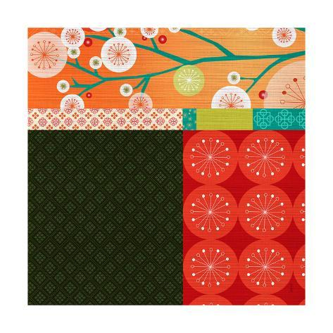 Suki Asian Graphic Floral 2 Stampa artistica