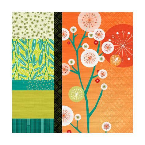 Suki Asian Graphic Floral 3 Stampa artistica