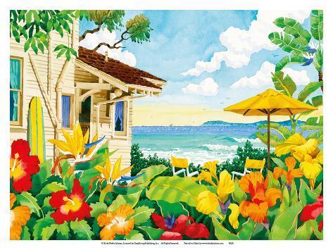 Robin wethe altman the good life tropical for Beach house prints