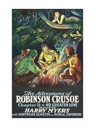 Robinson Crusoe - No Greater Love Art Print
