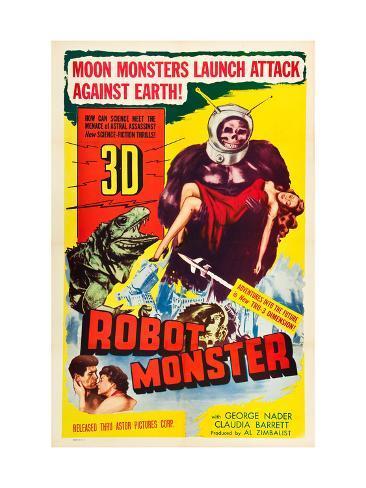 Robot Monster, George Nader, Claudia Barrett, 1953 Photo