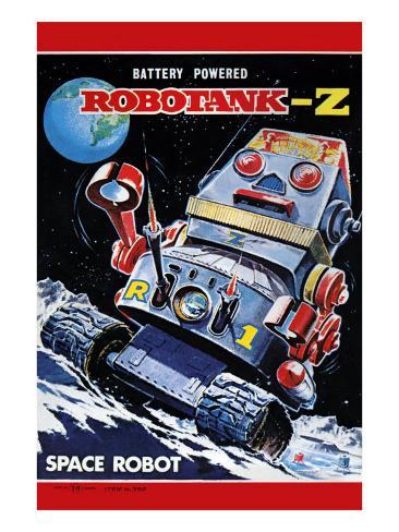 Robotank-Z Space Robot Art Print