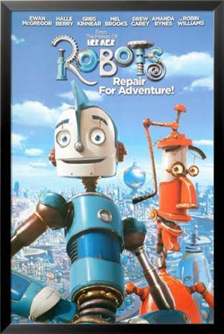 Robots Lamina Framed Poster