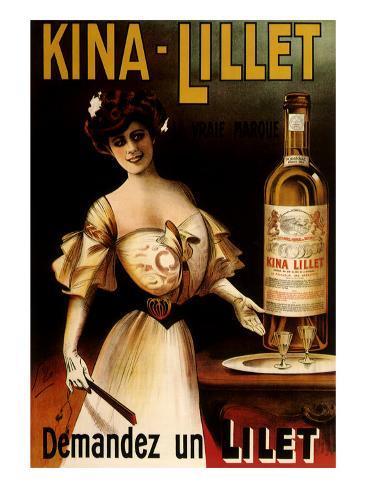 Kina-Lillet: Demandez Un Lilet, c.1899 Giclee Print