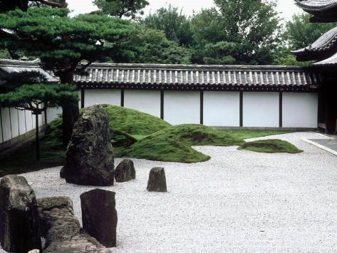 Rock Garden, Tofuku-Ji Temple, Kyoto, Japan Photographic Print