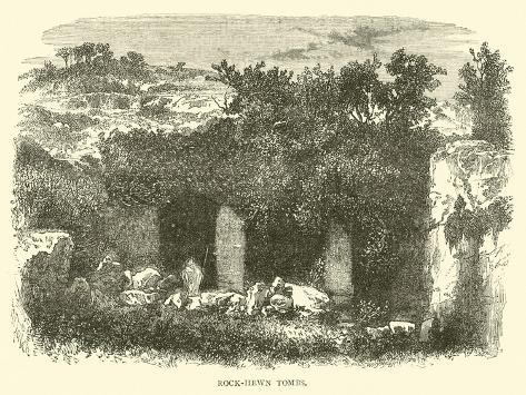 Rock-Hewn Tombs Lámina giclée
