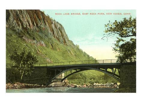 Rock Lane Bridge, New Haven, Connecticut Art Print