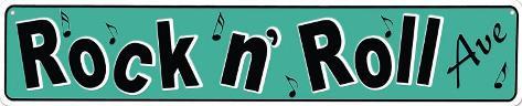 Rock N' Roll Tin Sign