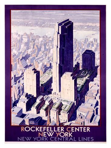 Rockefeller Center Railroad, c.1934 Giclee Print