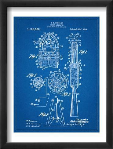 Rocket Patent Framed Art Print
