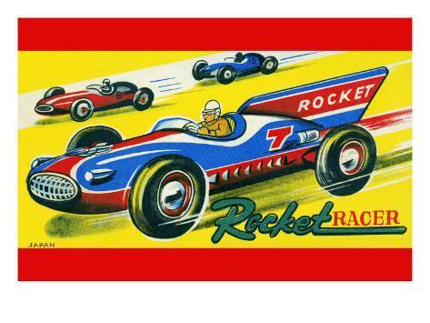 Rocket Racer Art Print
