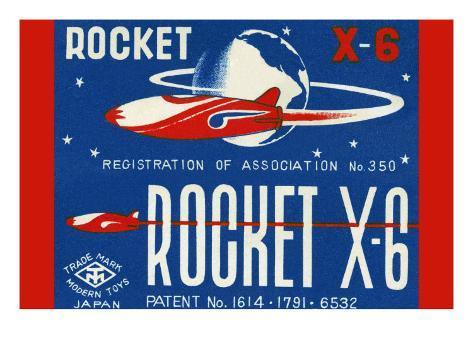 Rocket X-6 Art Print