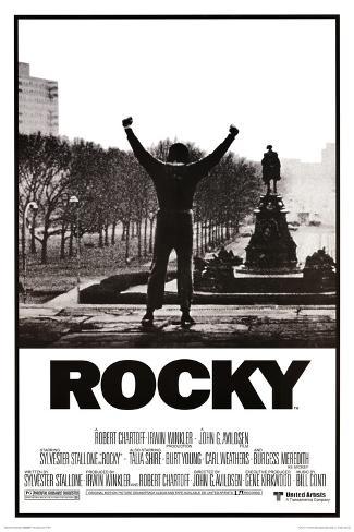 Rocky, il film. Con le braccia alzate. Poster