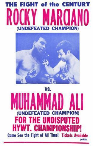Rocky Marciano vs Muhammad Ali Masterprint