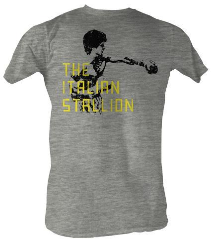 Rocky - The Stallion Black Text T-Shirt