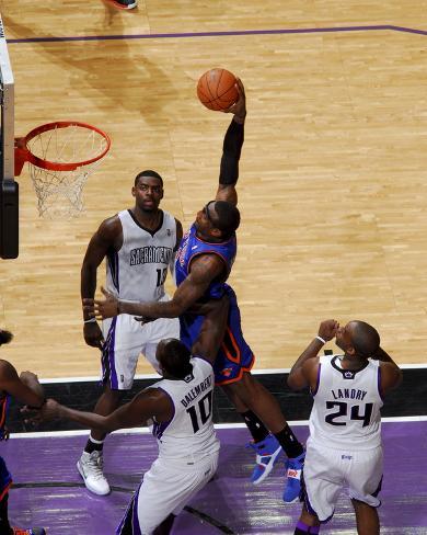 New York Knicks v Sacramento Kings: Amare Stoudemire Photo
