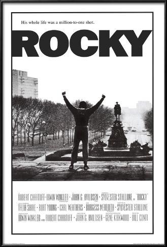 Rocky Pôster com moldura laminada