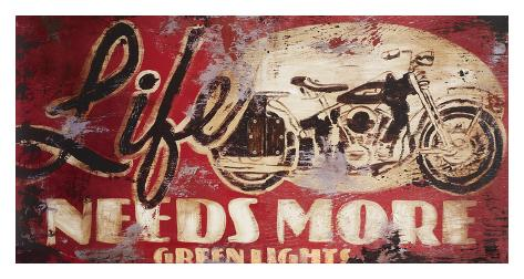 Green Lights Giclee Print