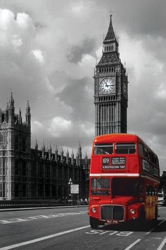 Röd Londonbuss Poster