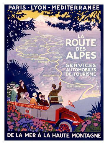 La Route des Alpes Giclee Print