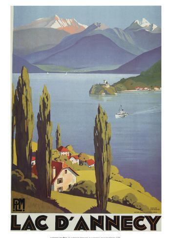 Lac Dannecy Art Print