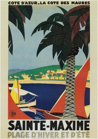 Sainte-Maxime Art Print