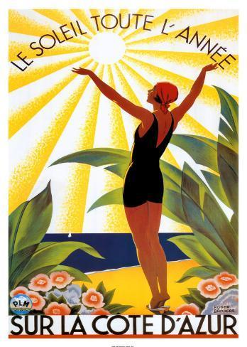 Soleil Toute Lannee Art Print