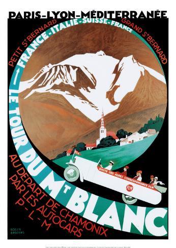 Tour Du Mt Blanc Art Print