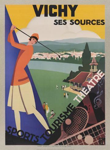 Vichy, Ses Soursec Art Print