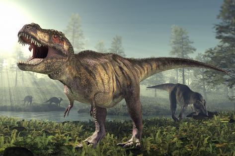 Tyrannosaurus rex dinosaur photographic print by roger harris by tyrannosaurus rex dinosaur altavistaventures Gallery