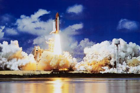 Space Shuttle Take Off Poster