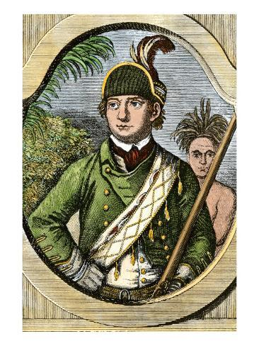 Rogers' Rangers Leader Robert Rogers, French and Indian War Stampa giclée