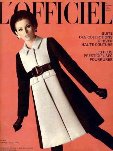 L'Officiel, October 1967 - Jeanne Lanvin Taidevedos
