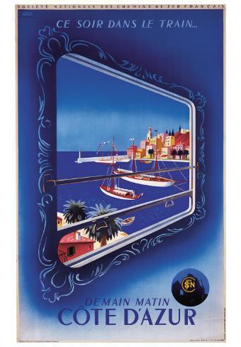 Demain Matin Cote d'Azur Art Print