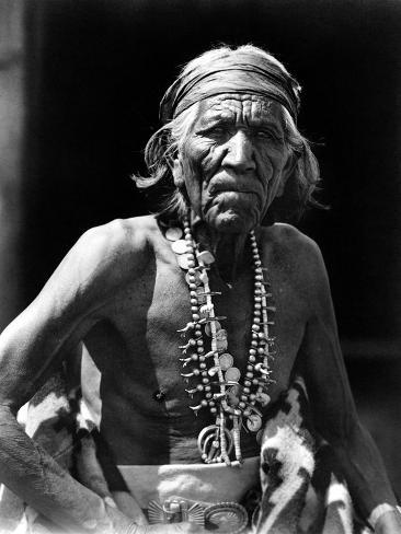 Navajo Man, C1913 Stretched Canvas Print
