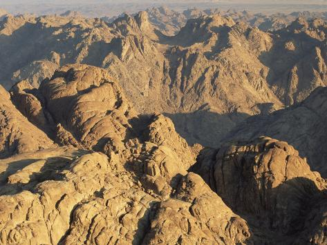 View from Mt. Sinai at Sunrise, Egypt Photographic Print