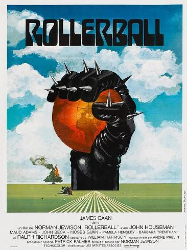 Rollerball, French poster, 1975 Art Print