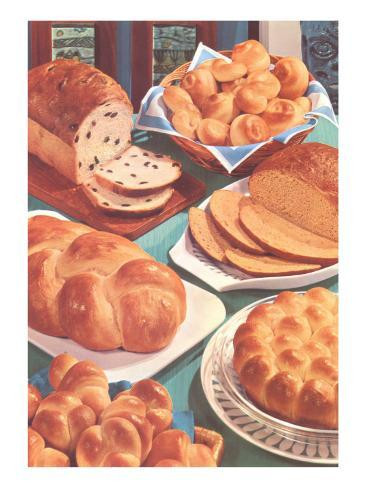 Rolls and Breads Art Print